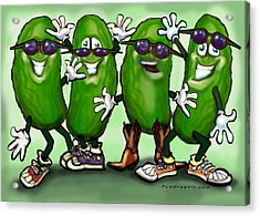 Pickle Party Acrylic Print by Kevin Middleton