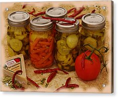 Pickled Still Life Acrylic Print by Lori Kingston