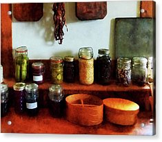 Pickles Beans And Jellies Acrylic Print by Susan Savad