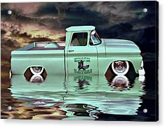 Pickup Reflections Acrylic Print by Steven Agius