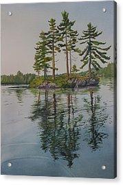 Picnic Island At Dawn Acrylic Print by Debbie Homewood