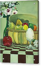 Acrylic Print featuring the painting Picnic by Jane Autry