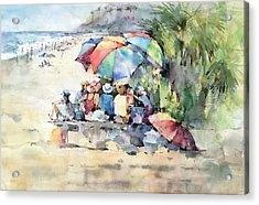 Picnic - Laguna Beach - California Acrylic Print by Natalia Eremeyeva Duarte