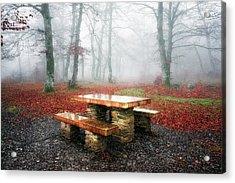 Picnic Of Fog Acrylic Print