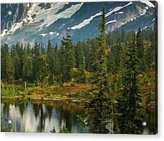 Picture Lake Vista Acrylic Print by Mike Reid
