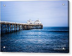 Picture Of Malibu Pier In Southern California Acrylic Print by Paul Velgos