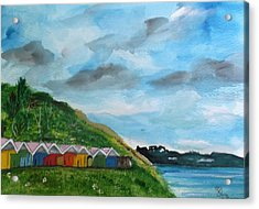 Picture Postcard View Of Scarborough Acrylic Print by Carole Robins