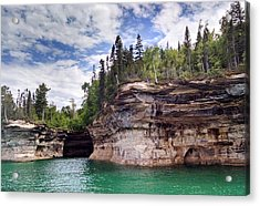 Pictured Rocks Acrylic Print by Alan Casadei