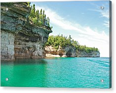 Pictured Rocks Acrylic Print