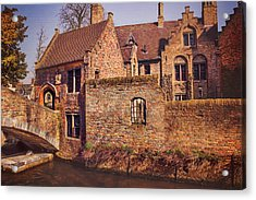 Picturesque Bruges  Acrylic Print by Carol Japp