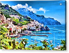 Picturesque Italy Series - Amalfi Acrylic Print by Lanjee Chee