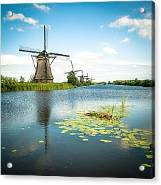 Acrylic Print featuring the photograph Picturesque Kinderdijk by Hannes Cmarits