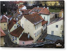 Picturesque Quarter Close To Prague Castle Acrylic Print by Marek Boguszak