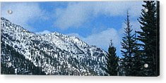 Picturing Beautiful Horizons Methow Valley Motivational Artwork  Acrylic Print by Omaste Witkowski