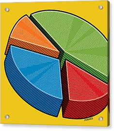 Acrylic Print featuring the digital art Pie Chart by Ron Magnes