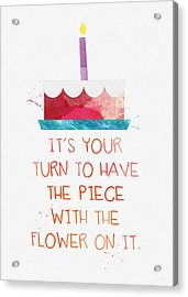 Piece Of Cake- Card Acrylic Print