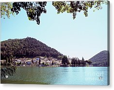 Piediluco And Piediluco Lake Acrylic Print