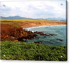 Acrylic Print featuring the digital art Piedras Blancas I by Timothy Bulone