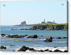 Acrylic Print featuring the photograph Piedras Blancas Lighthouse by Art Block Collections