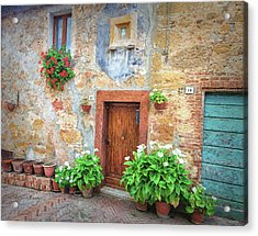 Pienza Street Scene Acrylic Print