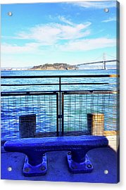 Pier 1 Blue - Limited Run Acrylic Print by Lars B Amble
