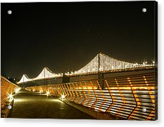 Pier 14 And Bay Bridge Lights Acrylic Print