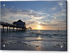 Pier 60 At Clearwater Beach Florida Acrylic Print by Bill Cannon