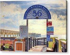 Pier Access 56 Panama City Beach Acrylic Print