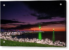 Pier And Lighthouse Acrylic Print