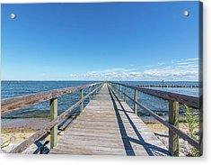 Pier At Highland Beach Acrylic Print