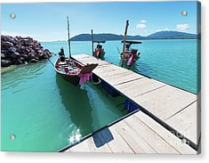 Acrylic Print featuring the photograph Pier At Khanom by Atiketta Sangasaeng