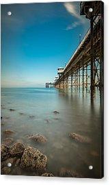 Pier At Llandudno, North Wales Acrylic Print by Andy Astbury
