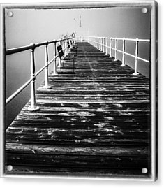 Pier At Pooley Bridge On Ullswater In The Lake District Acrylic Print