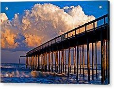 Pier At Sundown In Ocean City Acrylic Print