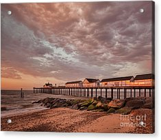 Acrylic Print featuring the photograph Pier At Sunrise by Colin and Linda McKie