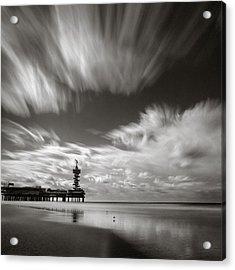 Pier End Acrylic Print by Dave Bowman