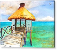 Pier Gazebo At Mayan Palace Acrylic Print