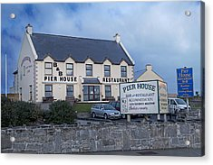 Pier House Restaurant Aran Islands Acrylic Print by Betsy Knapp