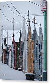 Pier Houses In January 2010 Acrylic Print by Joseph Duba