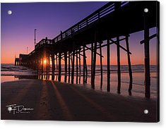 Pier In Purple Acrylic Print