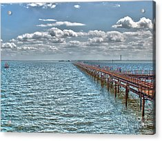 Pier Into The English Channel Acrylic Print