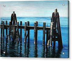 Acrylic Print featuring the painting Pier by Jason Girard