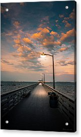 Pier Lights Acrylic Print
