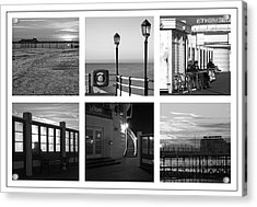 Pier Moods Acrylic Print by Hazy Apple