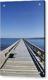 Pier On Fort Pond Bay Montauk Acrylic Print