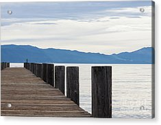 Acrylic Print featuring the photograph Pier On The Lake by Ana V Ramirez