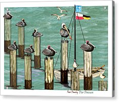 Acrylic Print featuring the painting Pier Pressure by Anne Beverley-Stamps