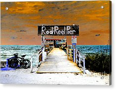 Pier Scape Acrylic Print by David Lee Thompson