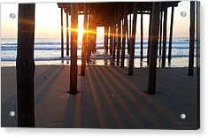 Acrylic Print featuring the photograph Pier Shadows by Robert Banach