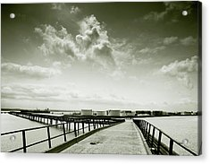 Acrylic Print featuring the photograph Pier-shaped by Joseph Westrupp